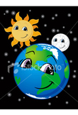 Earth, moon, & sun definitions with pics