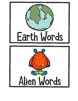 Earth or Alien Word CVC sort