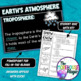 EARTH'S ATMOSPHERE SCIENCE DOODLE NOTES, INTERACTIVE NOTEBOOK, MINI ANCHOR CHART