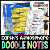 EARTH'S ATMOSPHERE SCIENCE DOODLE NOTES, INTERACTIVE NOTEB