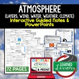 Earth's Atmosphere Guided Notes & PowerPoints NGSS Google,