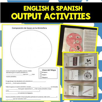 Earth's Atmosphere Interactive Notebook - ENGLISH/SPANISH Bundle