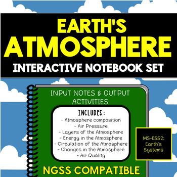 Earth's Atmosphere Interactive Notebook Set