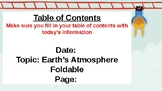 Earth's Atmosphere Powerpoint & Guided Notes