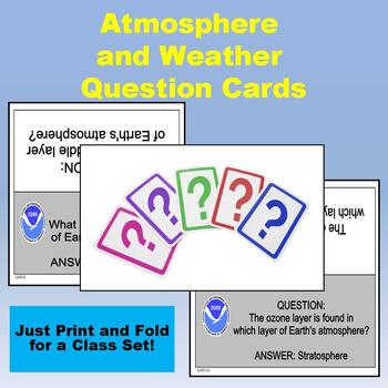 Earth's Atmosphere & Weather Quiz-Quiz-Trade Cards (Kagan Strategy)