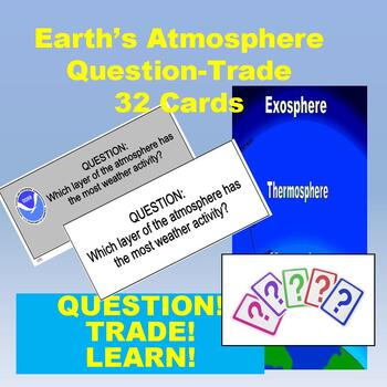 Earth's Atmosphere & Weather Quiz-Quiz-Trade Cards (Kagan