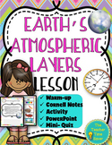 Earth's Atmospheric Layers- Meteorology and Atmosphere Unit Lesson