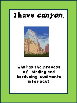 Earth's Changes: I have, Who Has Cards:  TEKS Resource Grade 5, Unit 5 and NGSS