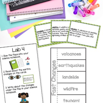 Earth's Changes and Prevention STEAM Unit | Science Stations for Primary Grades