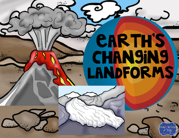 Earth's Changing Landforms Task Cards: Tectonic plates & layers of earth