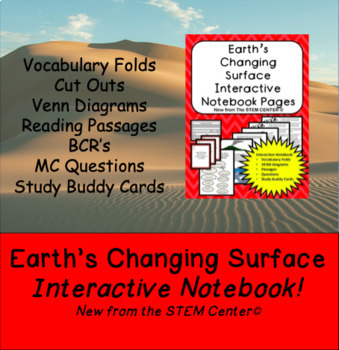 Earth's Changing Surface Interactive Science Notebook