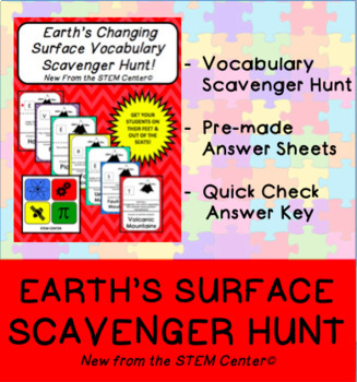 Earth's Changing Surface Scavenger Hunt Game
