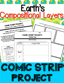 Earth's Compositional Layers : Comic Strip Project