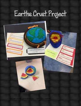 Earth's Crust Hands On Inquiry Project NO PREP