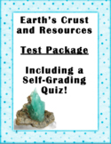 Earth's Crust and Resources Test Package
