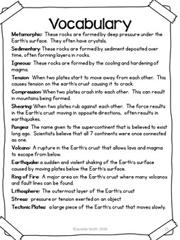 Earth's Crust and the Rock Cycle