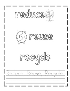 Earth's Day Handwriting Sheets