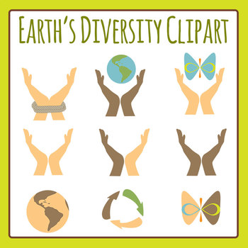Earth's Diversity Clip Art for Commercial Use