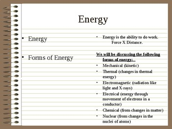 Earth's Energy Resources Cornell Notes
