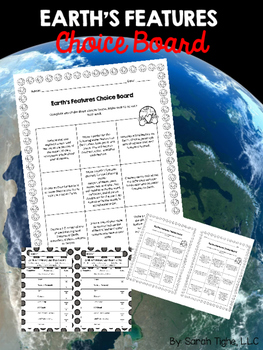 Earth's Features Choice Board (Editable)