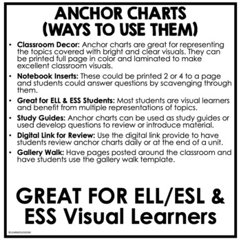 Earth's Forces Anchor Charts, Earth Science