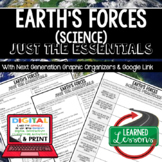 Earth's Forces Just the Essentials Content Outlines, Next Generation Science