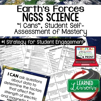 Earth's Forces Student Self Assessment of Mastery I Cans Earth Science