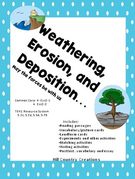 STAAR Review-Earth's Forces:  Weathering, Erosion, and Deposition/Landforms