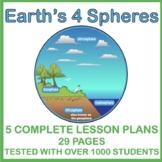 Earth's Four Spheres: Atmosphere, Biosphere, Hydrosphere,