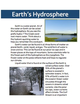 Earth's Four Spheres: Biosphere, Atmosphere, Hydrosphere, and Geosphere