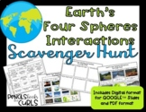 Earth's Four Spheres Interactions Scavenger Hunt