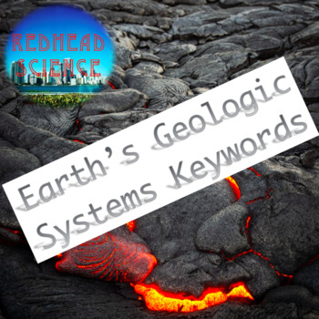 Earth's Geologic Keywords with Word Wall Cutouts (with & without definitions)