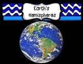 Earth's Hemispheres Diagram & Graphic Organizer