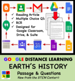 Earth's History Google Doc Article & Questions Distance Learning Friendly