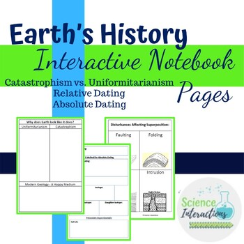 Earth's History Interactive Notebook Pages