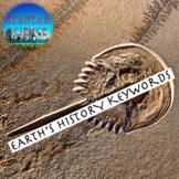 Earth's History Keywords Quiz - Bonus Enhanced Font (24+ f