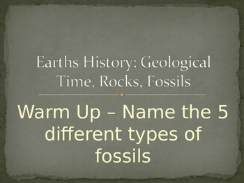 Earth's History Powerpoint