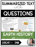 "Earth's History ""Text Tuesday"" with Questions"