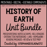 Earth's History Unit Bundle - Distance Learning