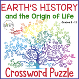 Earth's History and the Origin of Life Crossword Puzzle