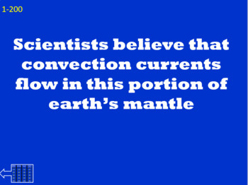 Earth's Interior Jeopardy