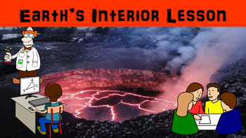 Earth's Interior No Prep Lesson with Power Point, Worksheet and Vocabulary Match