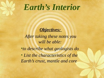 Earth's Interior Powerpoint