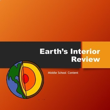 Earth's Interior Review Worksheet