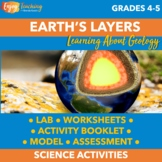 Earth's Layers Activities for Fourth and Fifth Grade