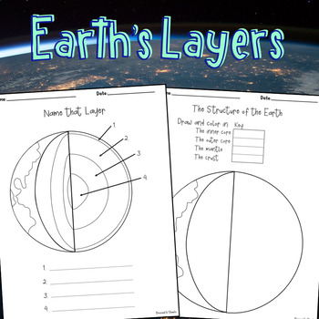 earth 39 s layers diagram worksheets by dressed in sheets tpt. Black Bedroom Furniture Sets. Home Design Ideas