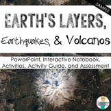 Earth's Layers, Earthquakes, & Volcanos Unit Sample