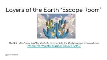 Earth's Layers Escape Room