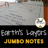 Earth's Layers JUMBO Notes
