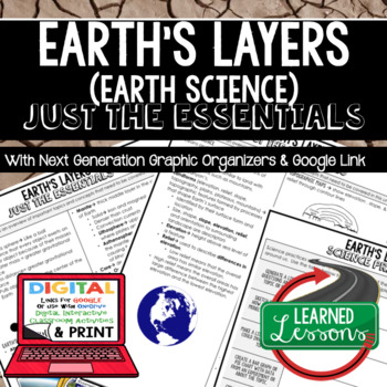 Earth's Layers Just the Essentials Content Next Generation Science, with Google